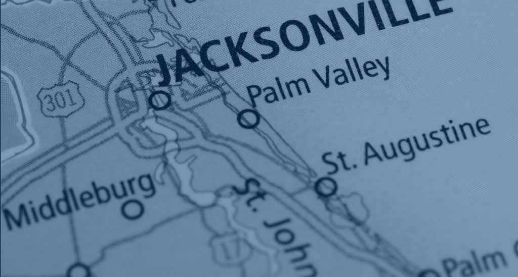 RiverTown map showing St. Johns County